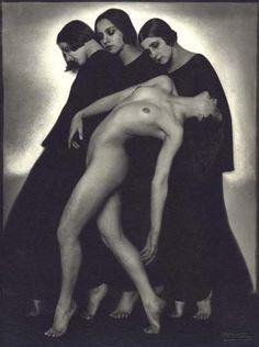 RUDOLF KOPPITZ, Movement Study, Vienna 1925, Vintage silver print