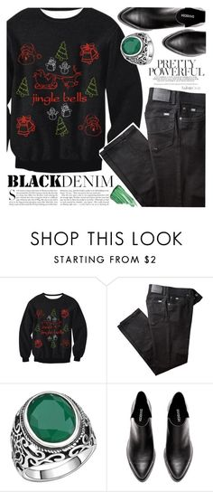 """Black Denim"" by vanjazivadinovic ❤ liked on Polyvore featuring BRAX, Kershaw, By Terry, polyvoreeditorial and twikledeals"