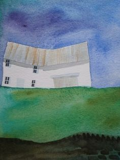 Cottage and Barn, Original Watercolour painting £14.95