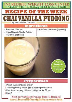ideal protein Chai Vanilla Pudding