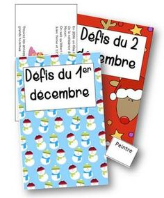 Calendrier pour attendre les vacances - défis du jour Noel Christmas, Christmas Crafts For Kids, Xmas, Theme Noel, Student Engagement, Colouring Pages, Yule, Holidays And Events, Projects To Try