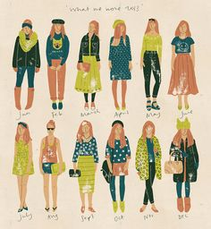 What We Wore 2013 by Harriet Taylor Seed, via Behance