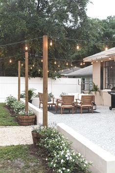 Design Patio, Pergola Design, Backyard Patio Designs, Diy Pergola, Backyard Landscaping, Garden Design, Patio Ideas, Backyard Ideas, Garden Ideas