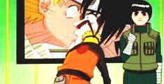 is Lee blushing? (Sasuke Naruto Lee)