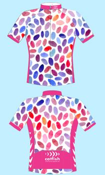 51264da07b Cycle Jersey - Jelly Beans - Pink Cycle jersey - Catfish Designs Team Wear