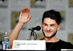 Cody Christian speaks onstage at MTV's 'Teen Wolf' panel during Comic-Con International 2015 at the San Diego Convention Center on July 9, 2015 in San Diego, California.