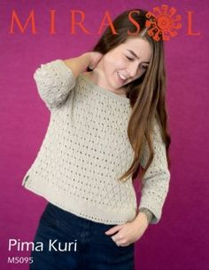 Nuna – Draped Back Top | Knitting Fever Yarns & Euro Yarns