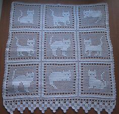 crochet curtains, hand made cotton curtain, celestial cat curtains, lace crochet curtain panel, Lace handmade crochet with filet technique