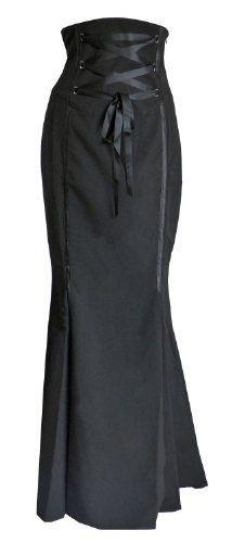 Black Long Fishtail Corset High Waist Peep Leg High Waist Gothic Skirt Sizes 8-28 DangerousFX, http://www.amazon.co.uk/dp/B00DOYGFYO/ref=cm_sw_r_pi_dp_224ksb0YHPDN9