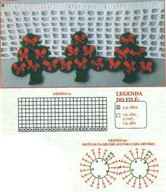 BARRADO DE CROCHE RODELI NHAS Crochet Christmas Tree