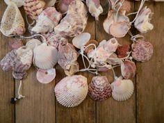 Beachy Garland Shells White Eggplant Purple Seashells Natural Organic Beach Wedding Bridal Ocean Tropical Holiday Christmas Tree Mantel Etsy...