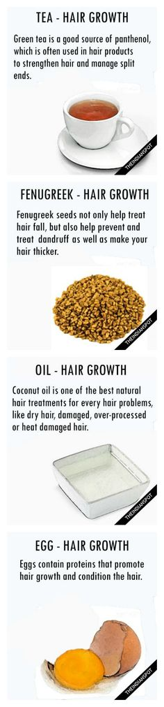 Top ten one ingredient hair growth and hair health remedies.