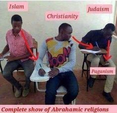 """It amazes me that people don't realize that Islam is just a """"younger sister"""" religion/spin-off of Judaism. Atheist Humor, Atheist Quotes, Religious Humor, Anti Religion, Religion And Politics, Satire, Athiest, World Religions, Fresh Memes"""