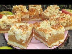 Idealna SZARLOTKA Z KRUSZONKĄ, łatwa, pyszna, najlepsza - YouTube Krispie Treats, Rice Krispies, Calzone, Dessert Recipes, Desserts, Cornbread, French Toast, Muffin, Sweets