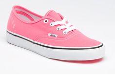 Vans Neon Authentic Pink/True White