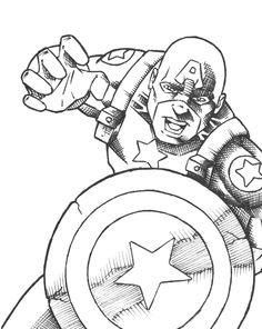 the captain america would like to pounce the evil opponent coloring for kids captain america coloring pages kidsdrawing free coloring