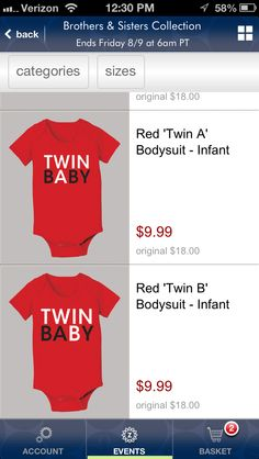 Twin a and twin b shirts