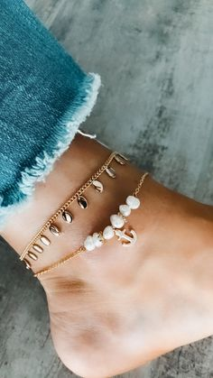 Ankle Jewelry, Cute Jewelry, Jewelry Accessories, Prom Jewelry, Jewelry Box, Jewelry Design, Cute Bracelets, Ankle Bracelets, Accesorios Casual