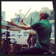 Charlie at #stoneshydepark. The live album from the shows is just available until Sunday #charliewatts #therollingstones - @therollingstones- #webstagram