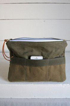 78b0bc8220 WWII era Canvas   Camo Pocket Utility Pouch
