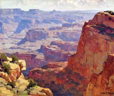 Edgar Payne,South Rim, Grand Canyon oil painting reproductions for sale Southwestern Paintings, Southwestern Art, Oil Painting Texture, Oil Painting Abstract, Oil Paintings, Watercolour Paintings, Painting Art, Watercolors, Monet