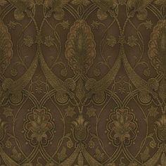 Chocolate Elisabetta Damask Wallpaper