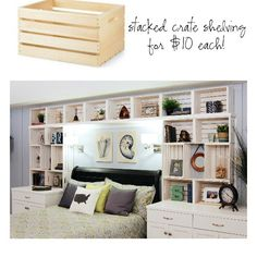 Craft crate shelving