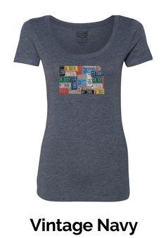 Women's Scoop Neck T-Shirt - Kansas