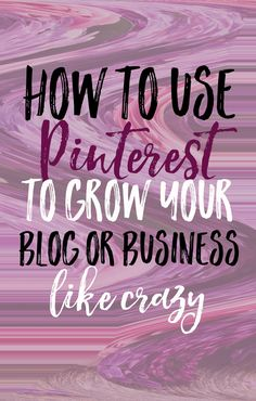 Check out how you can use Pinterest to grow your online presence and see your page views sky rocket.