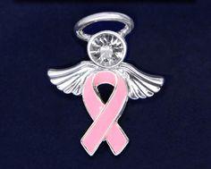 Angel Pink Ribbon Pins (18 Pins)