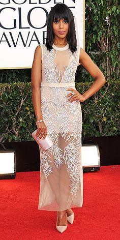 Kerry Washington 2013 Golden Globes #celebrities #celebrityfashion #redcarpet