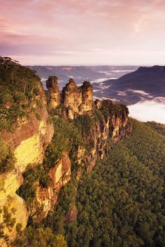 The Three Sisters. The Blue Mountains, Katoomba, New South Wales. An hour or so drive from Sydney.