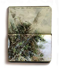 keithbangkok:Study of Trees, Sea Breeze Resort, Bunaken Island, IndonesiaWatercolor, 5.5in. by 7in.