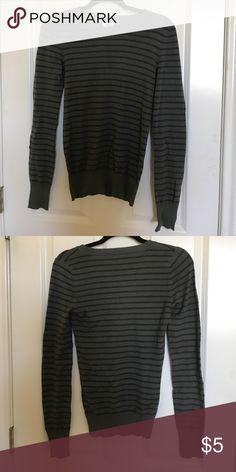 long sleeve green striped sweater long sleeved green striped sweater. never worn! Abound Sweaters Crew & Scoop Necks