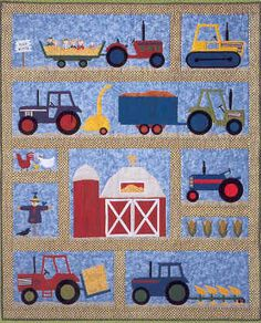 BABY BOY QUILT              PC  5 Paper Piecing Quilt Patterns, Animals and Flowers