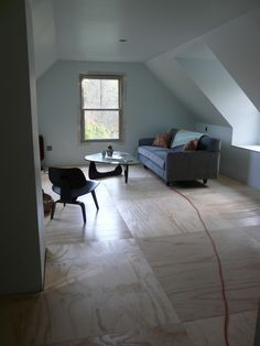 plywood floor - nice idea for cottage redo on a budget                                                                                                                                                                                 More