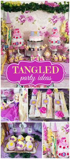 What a fantastic Tangled party! Such elaborate decorations! See more party ideas at CatchMyParty.com!