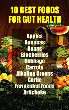 10 BEST FOODS FOR GUT HEALTH: Apples, Bananas, Beans, Blueberries, Cabbage, Carrots, Alkaline Greens, Garlic, Fermented Foods, Artichoke. Learn about the gut health beneficial qualities of alkaline rich Kangen Water; it neutralizes free radicals that cause oxidative stress which contributes to poor gut health. Change your water, change your life.