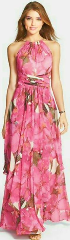 Eliza J chiffon maxi dress ... http://petitbonbon05.tumblr.com/post/89927261026/eliza-j-chiffon-maxi-dress