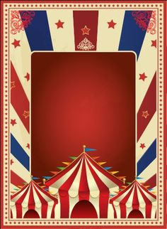 Circus Poster Template | Vintage style circus poster design vector 03