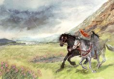 Maglor joined Maedhros upon Himring; but Caranthir fled and joined the remnant of his people to the scattered folk of the hunters, Amrod and Amras, and they retreated and passed Ramdal in the south. ~ The Silmarillion, Chapter 18 (Brothers in Beleriand by daLomacchi, deviantART)