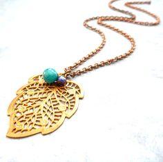 Lauren Embree | Vintage Filigree Leaf Necklace