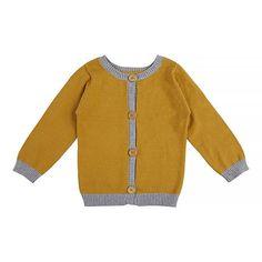 Mustard Knit Cardigan - Kids