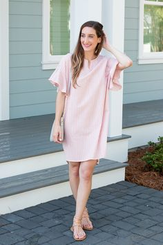 Midi Bell Sleeve Dress with Mint Springs Boutique on Little Mrs. Particular