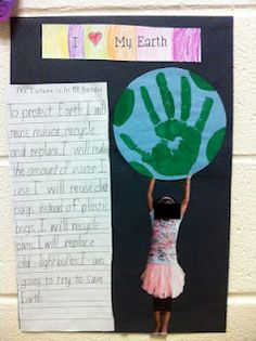 Earth Day project...love the idea of doin pic with them holding up the earth!!!!!