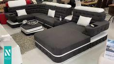 Blue Sofa Design, Corner Sofa Design, Living Room Sofa Design, Bedroom Bed Design, Modern Bedroom Design, Sofa Set Designs, Modern Bedroom Furniture, Furniture Design, House Frame Bed