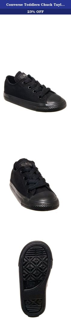 Converse Toddlers Chuck Taylor OX Classic Black Monoch Basketball Shoe 3 Infants US. The Chuck Taylor All Star Ox speaks for itself, with it's classic canvas upper sports bold colors to match every outfit.