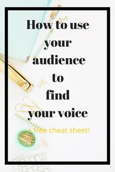Three ways you can use your existing audience to find your voice. I'll show you the secret framework you're already sitting on top of, and how to tap into it! Plus free cheat sheet to help you take action. << TheEditiingShop // blogging