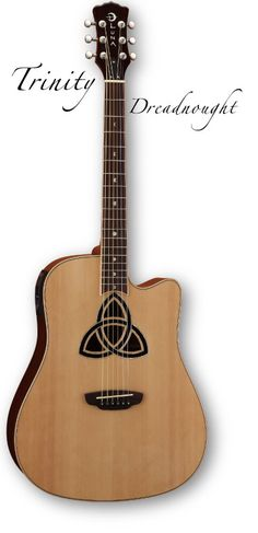 Luna Guitar's Trinity Dreadnought.  This is my guitar--she's so pretty, and sounds like a dream!   ♥