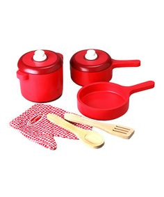 Love this Kitchen Accessory Set by Melissa & Doug on #zulily! #zulilyfinds